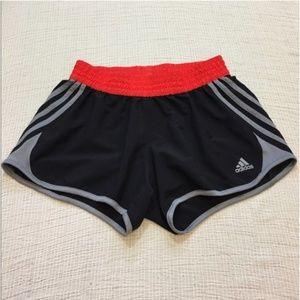 Adidas Black Gray & Red Athletic Shorts Small